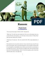 Ransom, a short thriller by Pinaki Ghosh