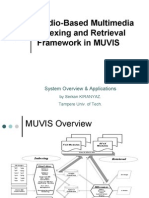 Audio Based Indexing and Retrieval in MUVIS