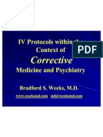IV Protocols Within the Context of Corrective Medicine & Psychiatry