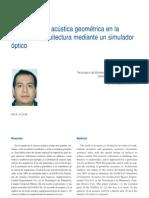 ESPACIOS ARQUITECTÓNICOS CON ACÚSTICA ESPECIAL