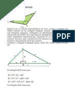 Trigonometria – Exercicios Resolvidos Lei dos cossenos