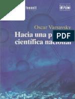 Oscar Varsavsky Hacia una Política Científica Nacional