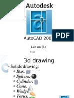 Autocad Lab 3