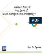 Is Your Organization Ready to Move to the Next Level of Brand Management Competency?