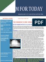Nov 11-The Kingdom versus New Jerusalem