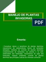 Aula 1 apresentação disciplina MANEJO DE PLANTAS INVASORAS