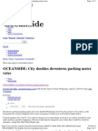 Oceanside_City Doubles Downtown Parking Meter Rates