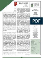UC December 2011 Newsletter