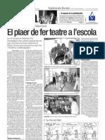 Jornades de Didàctica de la dramatitzacio del CEFIRE de Sagunt (València)