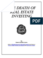Death of Real Estate Investing