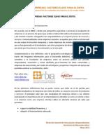 Factores Clave en La Incubacion de Empresas