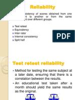 Validity & Realibility