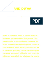 DHIKR AND DU'AA - Good One