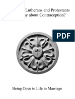 What Have Lutherans and Protest Ants Said About Contraception Rev