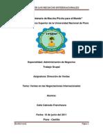 Direccion de Ventas (Negocios Internacionales