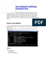 Configuring Network Settings From Command Line