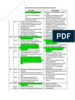 Cronograma Semanal de Actividades Para P