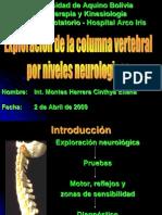 Exploracion de La Columna Vertebral Por Niveles Neurologicos