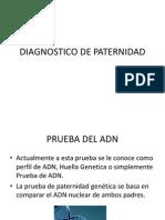 DIAGNOSTICO DE PATERNIDAD