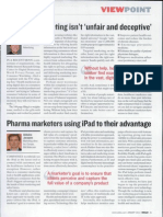 Use of iPad in Pharma S&M