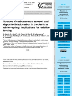 Sources of carbonaceous aerosols and deposited black carbon in the Arctic in winter–spring