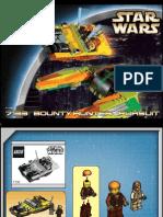 LEGO Bounty Hunter Pursuit Instruction Manual 7133