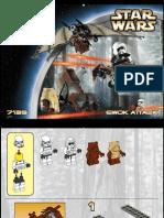 LEGO Ewok Attack Instruction Manual 7139