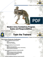 Modern Army Combat Ives Program Duties and Responsibilities