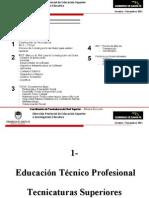 Educación Técnico Profesional - Tecnicaturas Superiores