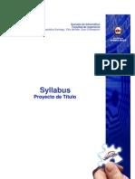 Syllabus Proyecto de Titulo Jul2010