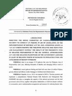HR 1864 - Disaster Preparedness Veto in 2011