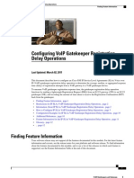 Configuring VoIP Gatekeeper Registration Delay Operations