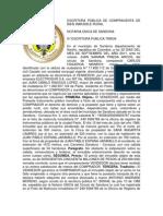 ESCRITURA PÚBLICA DE COMPRAVENTA DE BIEN INMUEBLE RURAL
