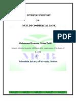 Intern Ship Report Muslim Commercial bank