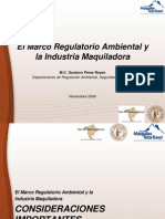 El Marco Regulatorio Ambiental y La Industria Maquiladora (CESUES - 2009)