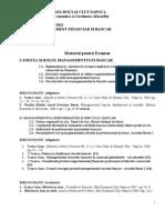 Management Bancar - Material Pt Examen