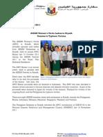 PR-115-2011 AWC Ladies in Riyadh Donates to Typhoon Victims