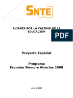 Proyecto Escuelas Siempre Abiertas 2008[2]