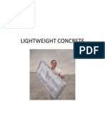 Lightweight and Heavyweight Concrete