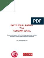 Pacto Por El Empleo y La Cohesion Social