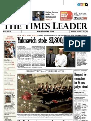 Times Leader 12-07-2011 | Child Custody | Wilkes Barre