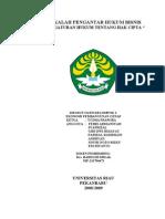 Tugas Kelompok 1, Pengaturan Hukum Tentang Hak Cipta