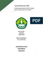 Pengaruh an Industri UKM Terhadap an Tenaga Kerja Provinsi Riau - Part 1