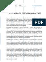 Avaliacao Do Desempenho Docente Comunicado SEAE 6/12/2011