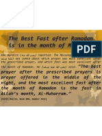 The Best Fast After Ramadan is in the (3)