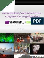 Activiteiten en evenementen volgens de regels