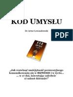 Lewandowski Artur - Kod Umyslu
