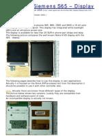 Using the Siemens S65 – Display
