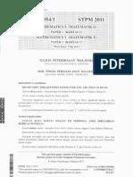 STPM 2011 Mathematics S&T Paper 1