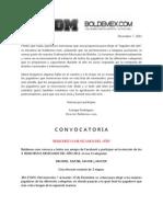 Convocatoria Bolichistas del Año 2011. Boldemex